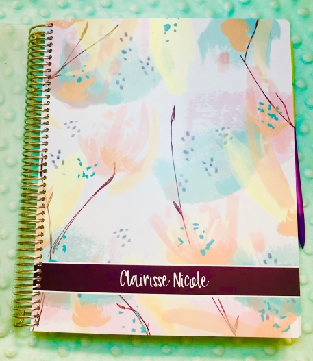 front of planner